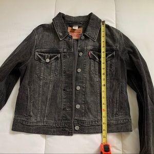 Levi's washed black denim jacket